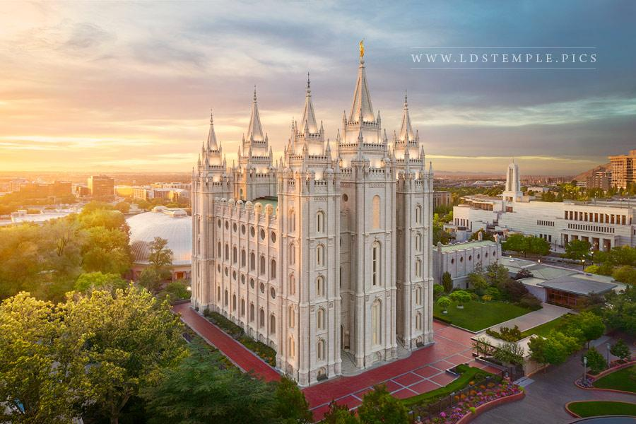 Salt Lake Temple Eternal Peace Print