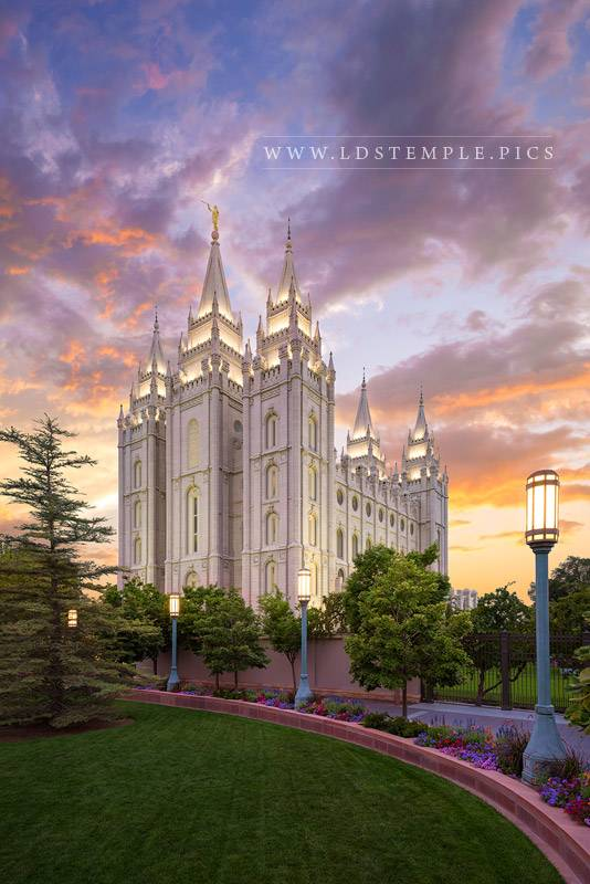 Salt Lake Temple Eternal Progression Print