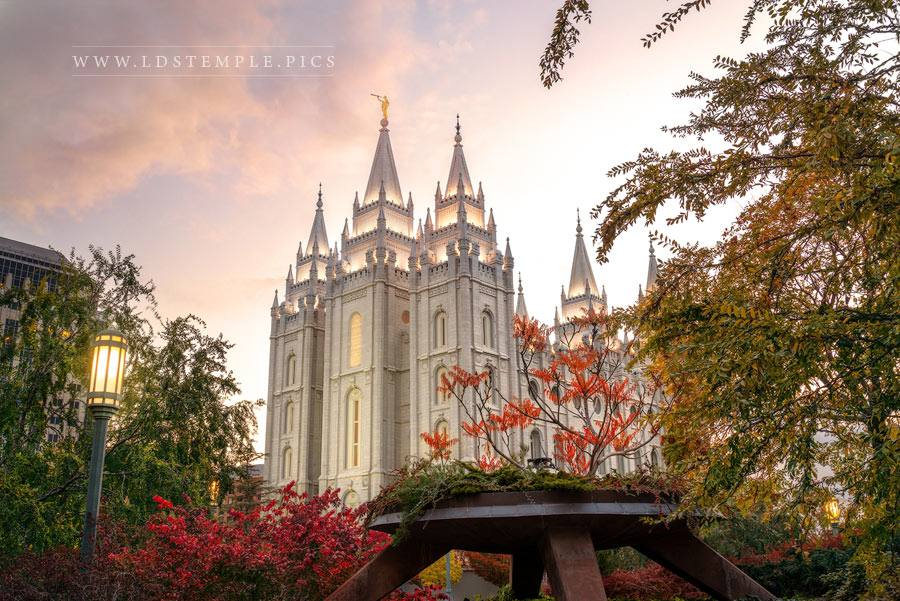 Salt Lake Temple Fall Colors Print