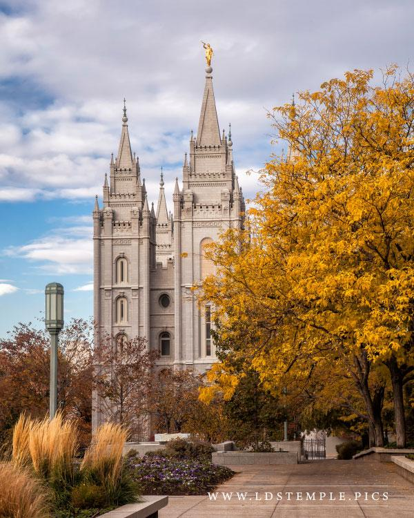 Salt Lake Temple – Fall Morning
