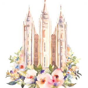 salt-lake-temple-floral-watercolor-painting