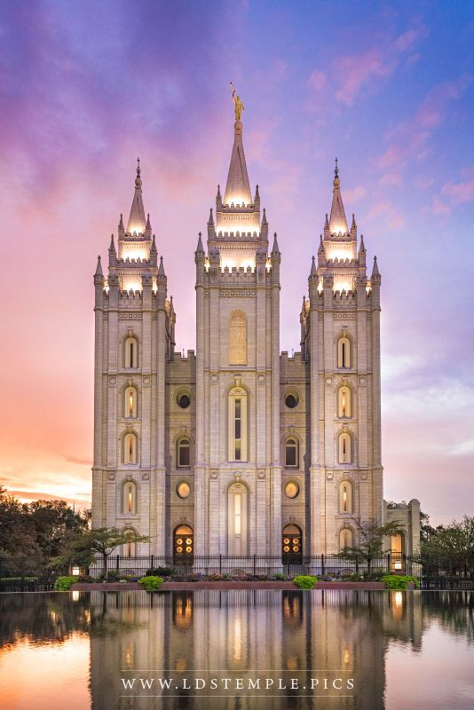 Salt Lake Temple Glimmer of Hope Print