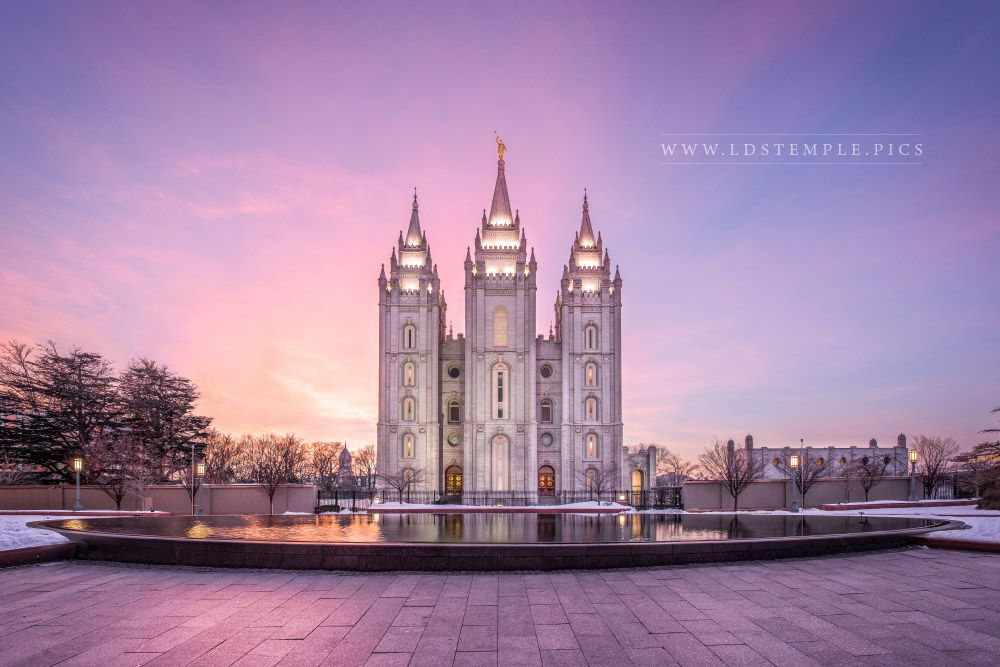 Salt Lake Temple Glorious Promises Print