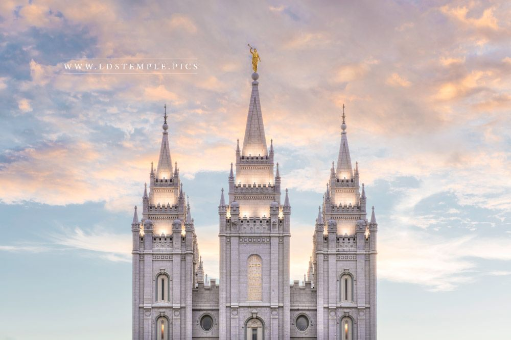 Salt Lake Temple Guiding Lights Print