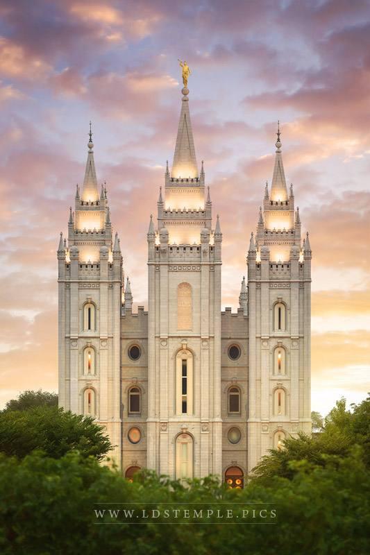 Salt Lake Temple Heavenly Light Print