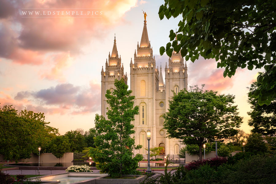 Salt Lake Temple Light Of The Lord Print