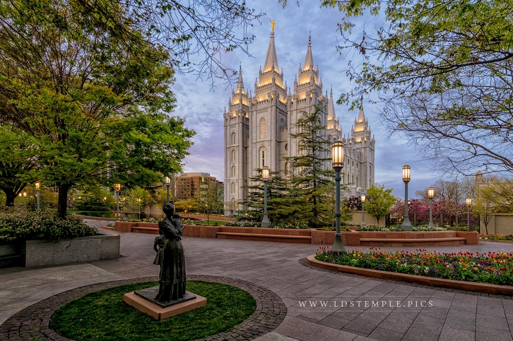 Salt Lake Temple Light Unto My Path Print
