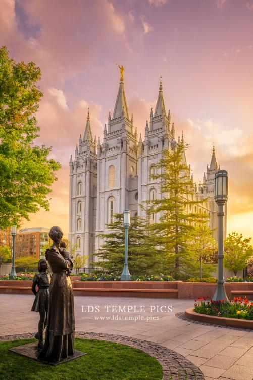 Salt Lake Temple Maternal Reflection Print