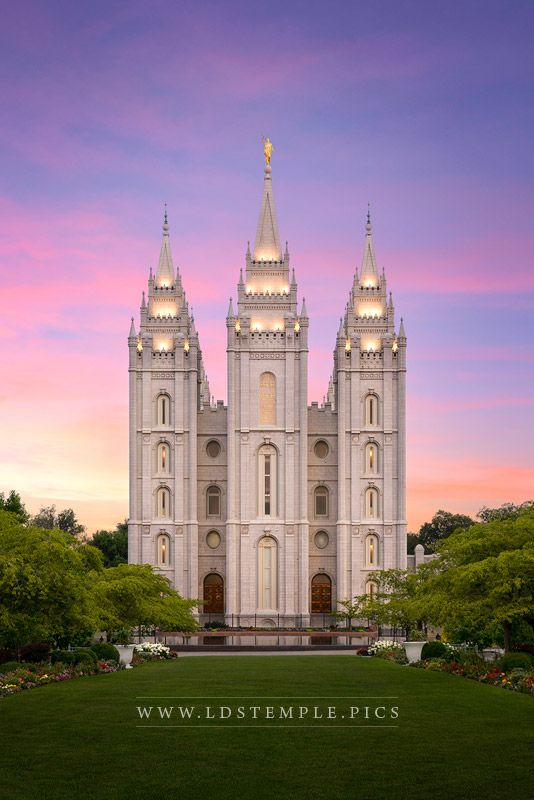 Salt Lake Temple Pastel Sunset Print
