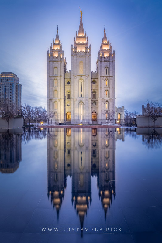 Salt Lake Temple Pioneer Masterpiece Print