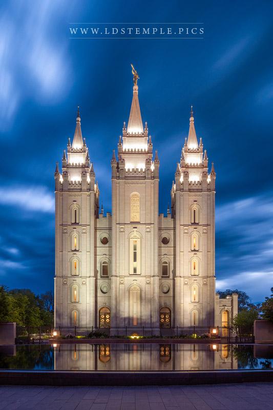 Salt Lake Temple Skies of Blue Print