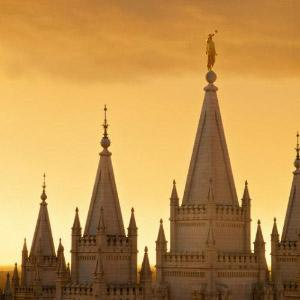 salt-lake-temple-spires-sunset