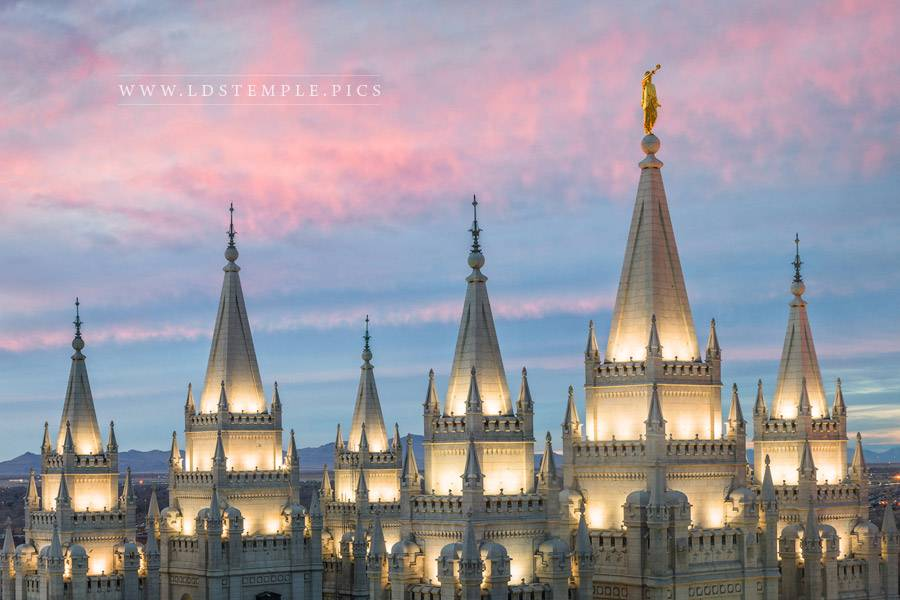 Salt Lake Temple Spires Print