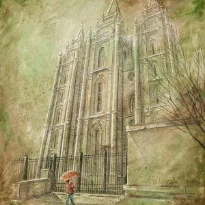 salt-lake-temple-spring-child-cold-wax-oil-painting