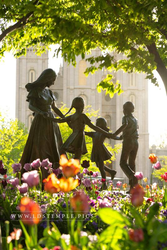 Salt Lake Temple Spring Sculpture Print
