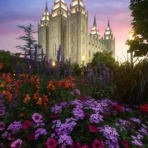 salt-lake-temple-summer-flowers