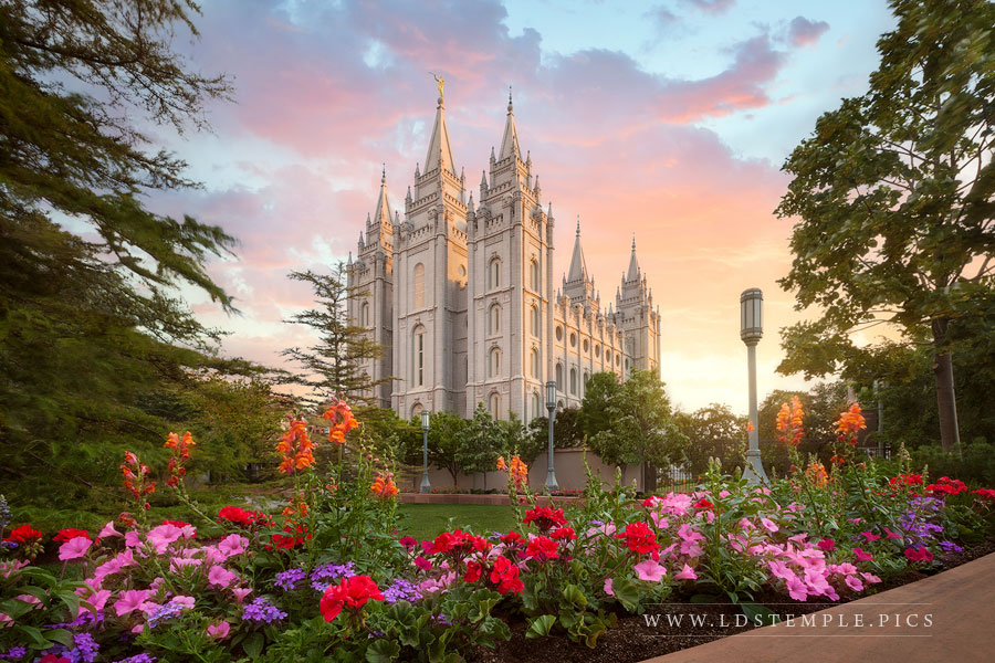 Salt Lake Temple Summer Glow Print