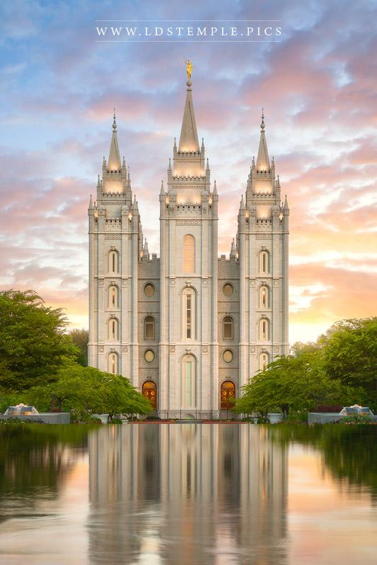 Salt Lake Temple Summer Reflections Print