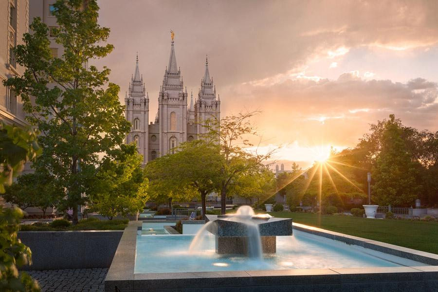 Salt Lake Temple Summer Sunburst Print