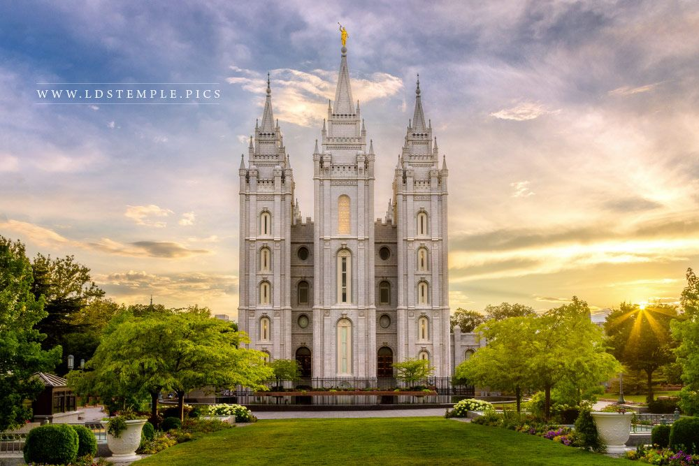 #5: Salt Lake Temple – Summer Sunset