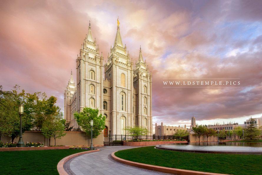 Salt Lake Temple Sunrise Northwest Lds Temple Pictures