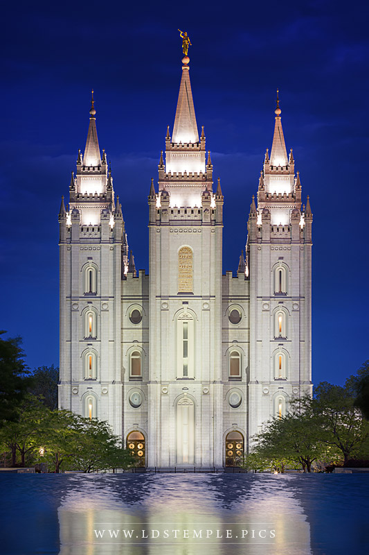 Salt Lake Temple Twilight Reflections Print