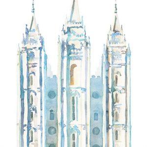 salt-lake-temple-watercolor-painting-blue