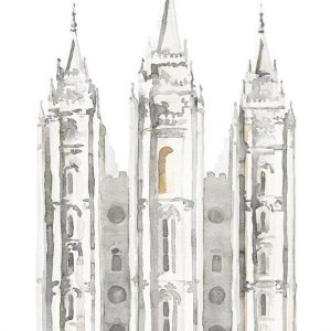 salt-lake-temple-watercolor-painting-gray