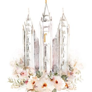 salt-lake-temple-watercolor-painting-textured