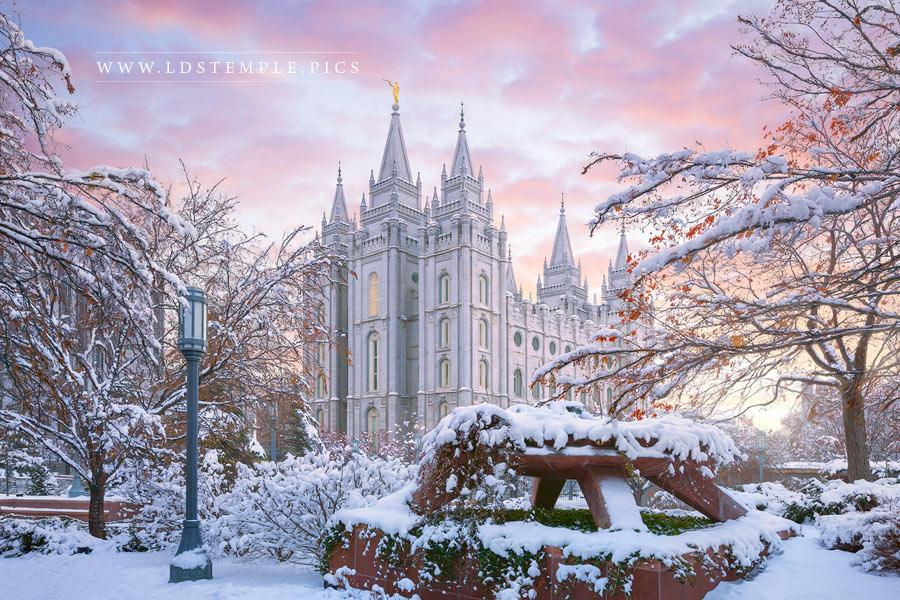 Salt Lake Temple Winter Glow Print