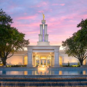 san-antonio-temple-fountain-sunset