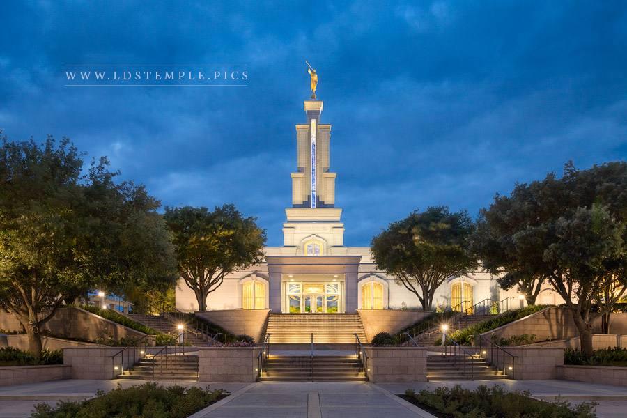 San Antonio Temple Twilight Print