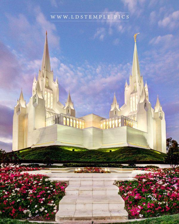 San Diego Temple Dusk Print