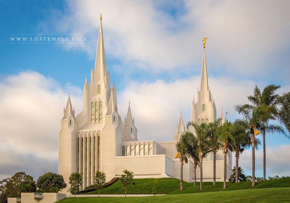 San Diego Temple Afternoon Light Print