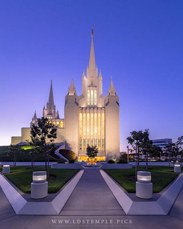 San Diego Temple Be Ye Clean Print