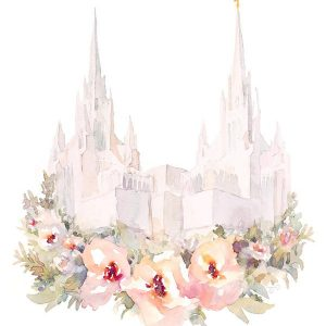 san-diego-temple-floral-watercolor-painting