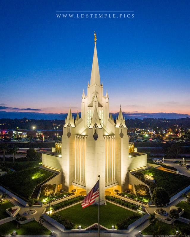 San Diego Temple Monument To Eternal Love Print