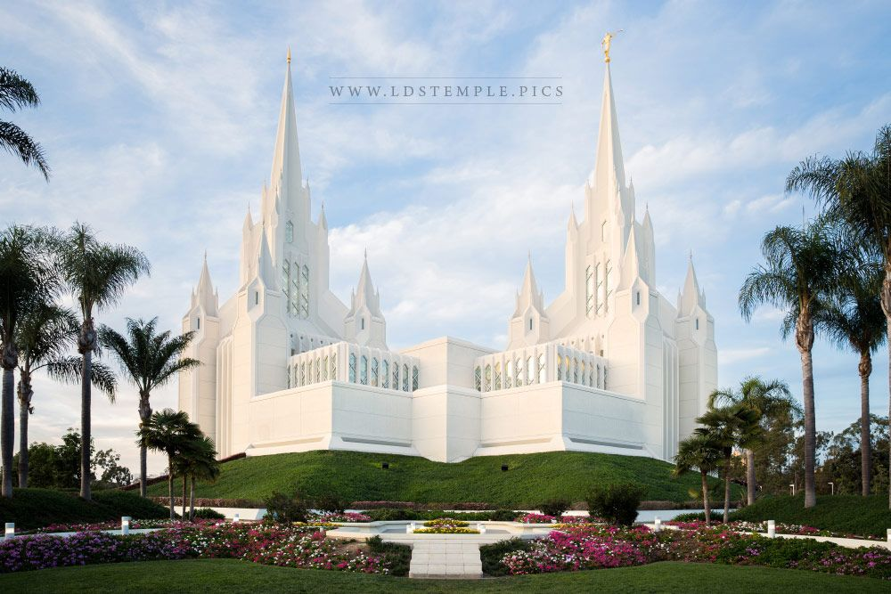 San Diego Temple Soft Glow Lds Temple Pictures