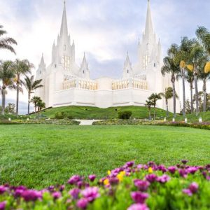 san-diego-temple-summer-flowers