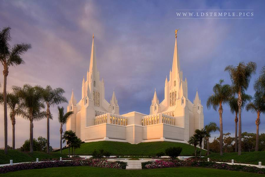 San Diego Temple Summer Glow Print