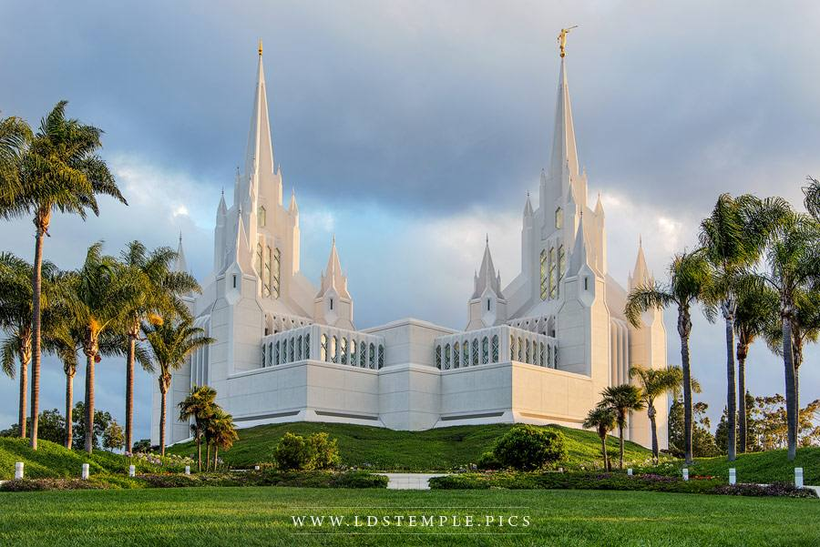 San Diego Temple Sunrise Print