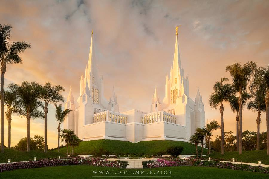 San Diego Temple Sun S Last Light Lds Temple Pictures