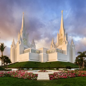 san-diego-temple-sunset