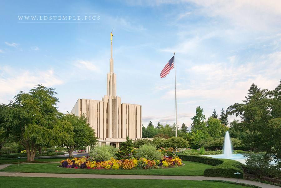 Seattle Temple Daylight Print