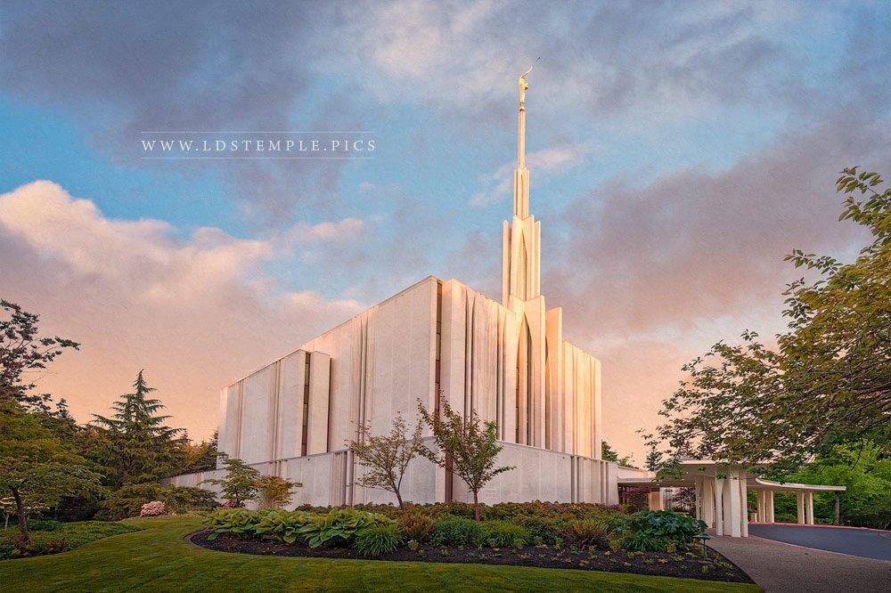 Seattle Temple Everlasting Print