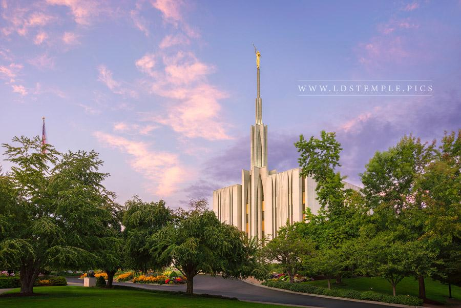 Seattle Temple Pastel Sunset Print