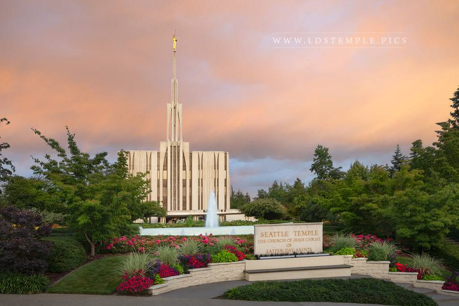 Seattle Temple Summer Peace Print
