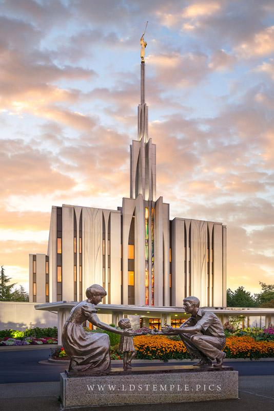 Seattle Temple Together Forever Print