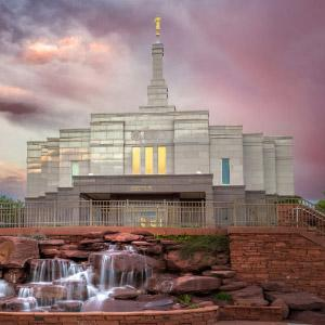 snowflake-temple-sunset-and-waterfall