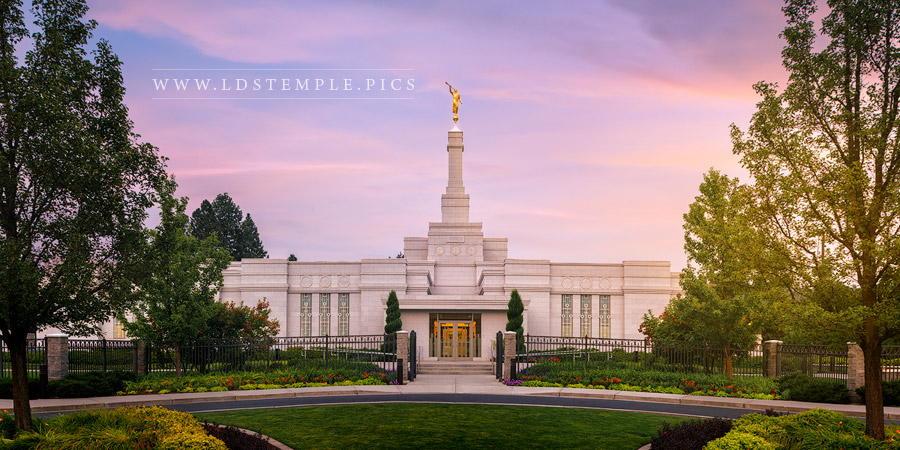 Spokane Temple Pastel Morning Print